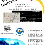 Beattie Park Disc Golf Tournament – Sunday March 25.